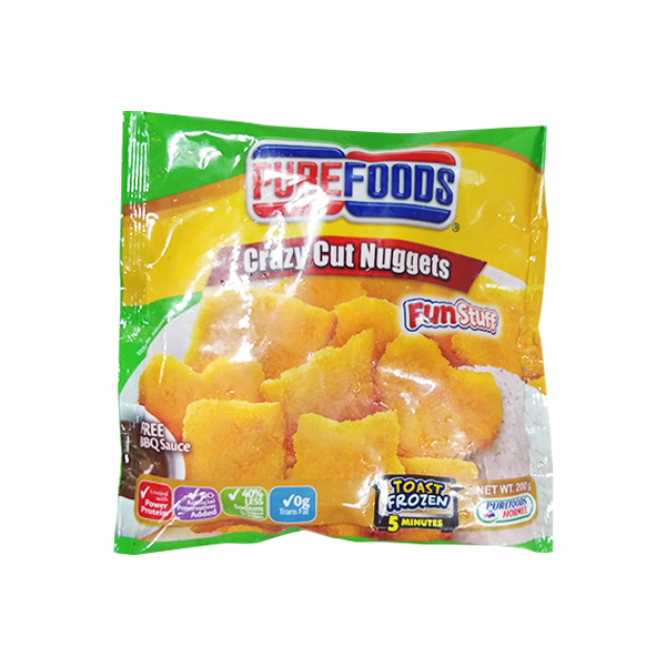 PUREFOODS CRAZY CUT NUGGETS 200G