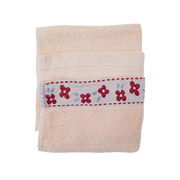 MINI HAND TOWEL WITH EMBOSS PEACH