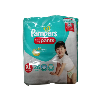 PAMPERS BABY DRY PANTS DIAPER XL 26S