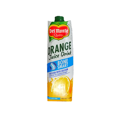 DEL MONTE ORANGE 100% VITAMIN C JUICE DRINK 1L