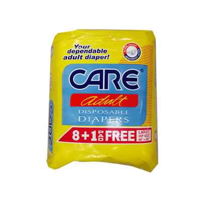 CARE ADULT DIAPER LARGE 8S