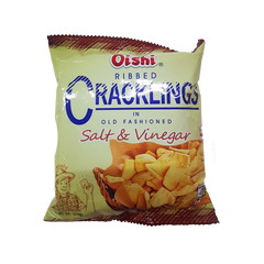 OISHI CRACKLING SALT & VINEGAR 24G