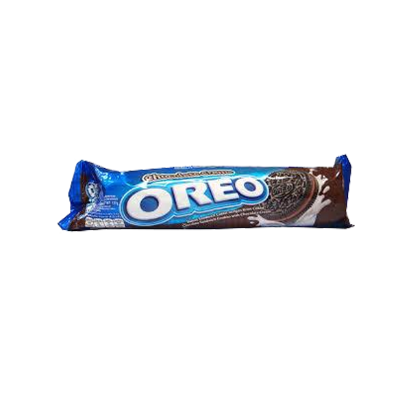 OREO SANDWICH  COOKIES WITH CHOCOLATE FLAVORED CREAM 137G