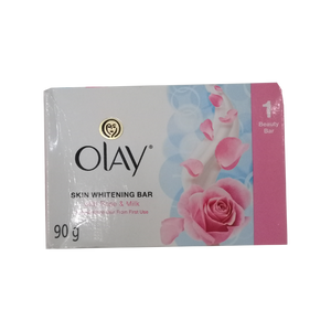OLAY SKIN WHITENING BAR  WITH ROSE & MILK 90G