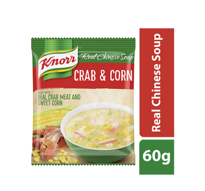 ***KNORR CHINESE SOUP CRAB & CORN 60G