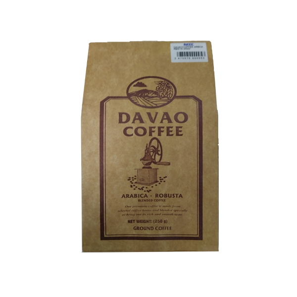 DAVAO COFFEE ARABICA-ROBUSTA 250G