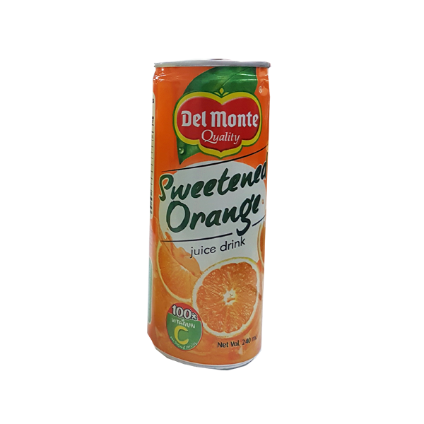DEL MONTE SWEETENED ORANGE 100% VITAMIN C JUICE DRINK 240ML