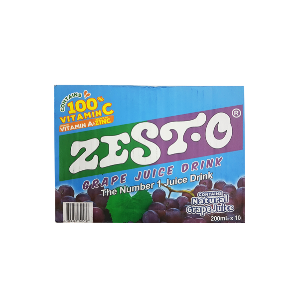 ZEST-O GRAPE JUICE DRINK 200MLX10