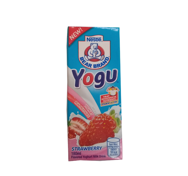 BEAR BRAND YOGU STRAWBERRY 180ML