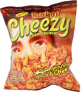 CHEEZY CORN CRUNCH RED HOT OUTRAGEOUSLY SPICY & CHEESY 150G