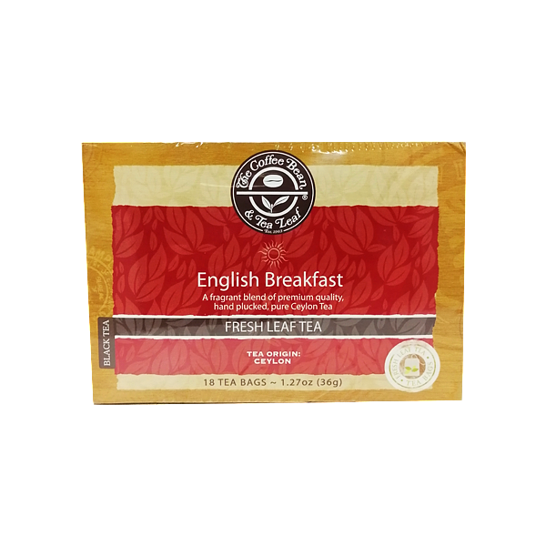 THE COFFEE BEAN BLACK TEA ENGLISH BREAKFAST 18 TEA BAGS