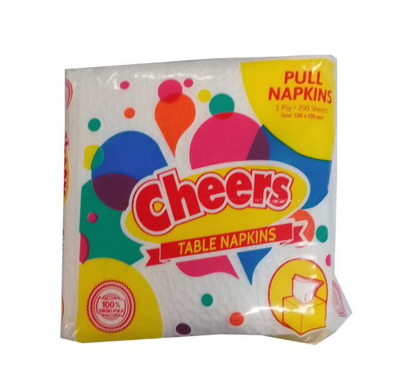 CHEERS TABLE NAPKN FLAT 200SHEETS
