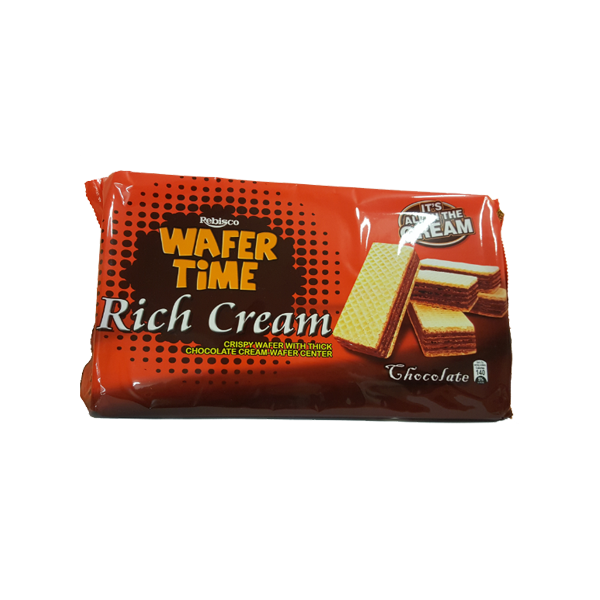 REBISCO TIME RICH CREAM CRISPY WAFER CHOCOLATE CREAM 29GX10S