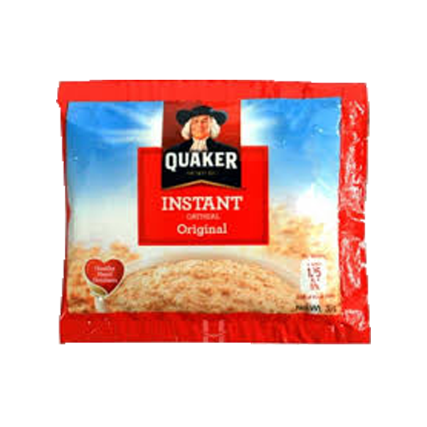 QUAKER INSTANT OATMEAL JUST ADD WATER 33G