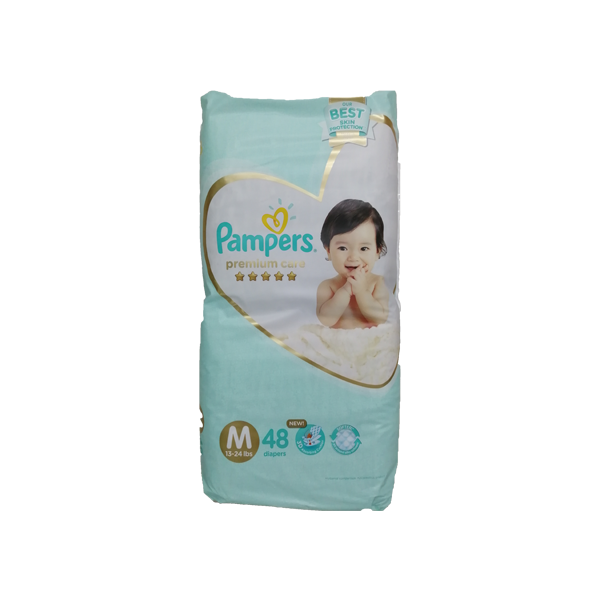 PAMPERS PREMUIM CARE MEDIUM 48S