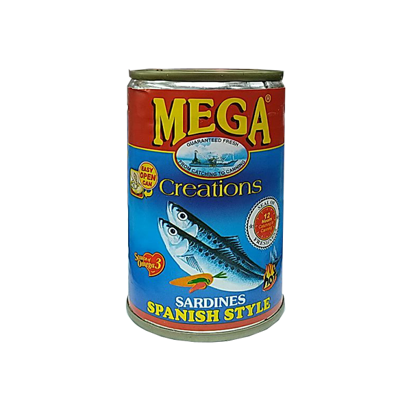 MEGA SARDINES SPANISH STYLE IN OIL EASY OPEN CAN 155G