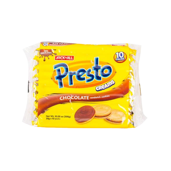 PRESTO CREAMS CHOCOLATE COOKIES 30GX10S