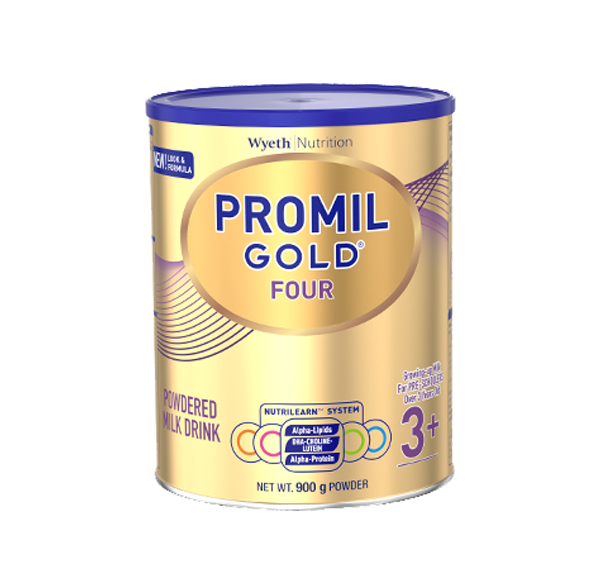 PROMIL GOLD FOUR POWDERED MILK DRINK 900 G FOR PRE-SCHOOLERS OVER 3 YEARS OLD