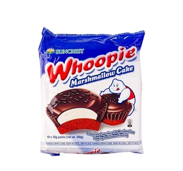 WHOOPIE CHOCOLATE CAKE WITH MARSHMALLOW TOPPING AND CHOCO FROSTING 35GX10S
