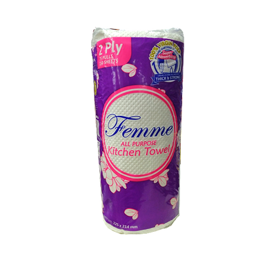 FEMME ALL PURPOSE KITCHEN TOWEL 150SHEETS 2PLY