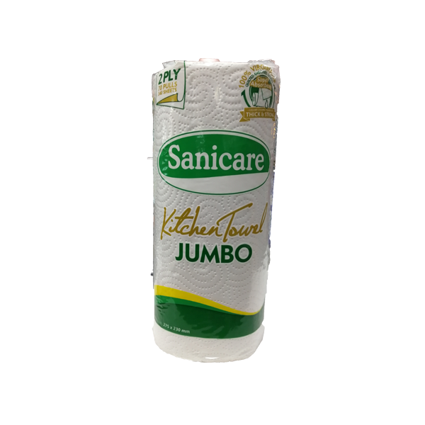 SANICARE KITCHEN TOWEL JUMBO 2PLY 70PULLS/140SHEETS (275X230MM)