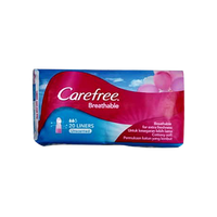 CAREFREE BREATHABLE PULP UNSCENTED PANTYLINER 20S
