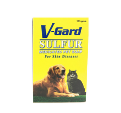 V-GARD SULFUR PET SOAP 135G