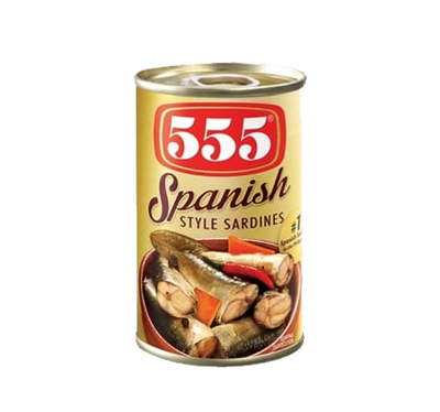 555 SARDINES SPANISH STYLE IN OIL EASY OPEN CAN 155G