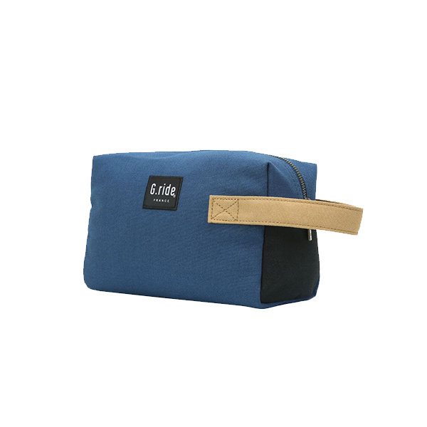 G.RIDE TOILET BAG BLUE BLACK AND YELLOW DENIS