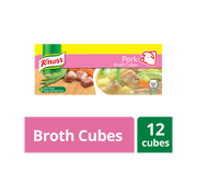 ***KNORR PORK BROTH CUBES 12 CUBES
