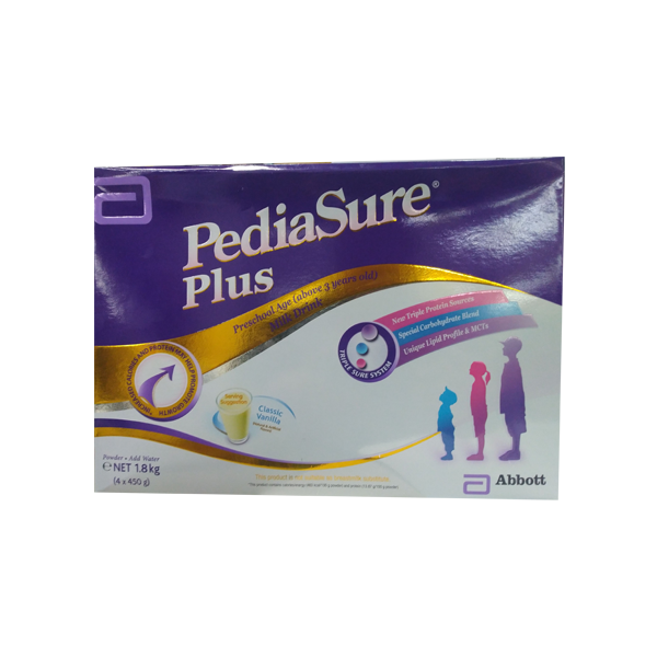 PEDIASURE PLUS VANILLA ABOVE 3YEARS OLD 1.6KG