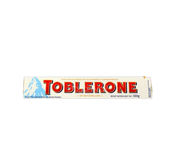 TOBLERONE WHITE WITH HONEY & ALMOND 100G