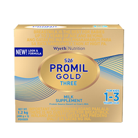S-26 PROMIL GOLD THREE 1.2 KGS MILK SUPPLEMENT FOR KIDS 1-3 YEARS OLD