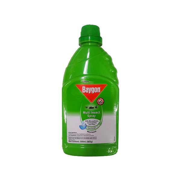 BAYGON MULTI INSECT SPRAY WATERBASED 500ML