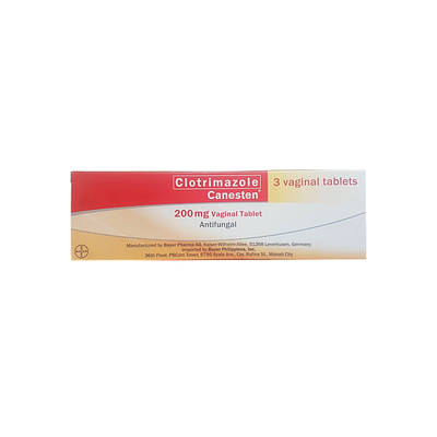 CANESTEN 200MG 3 VAGINAL TABLETS