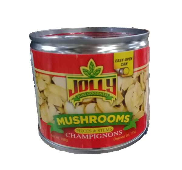 JOLLY MUSHROOMS PIECES & STEMS CHAMPIGNONS 198G