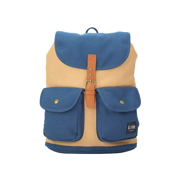 G.RIDE MUSTARD & NAVY CHLOE BACKPACK