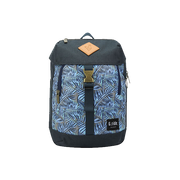 DARK BLUE DUNE BACKPACK WITH JUNGLE PATTERN