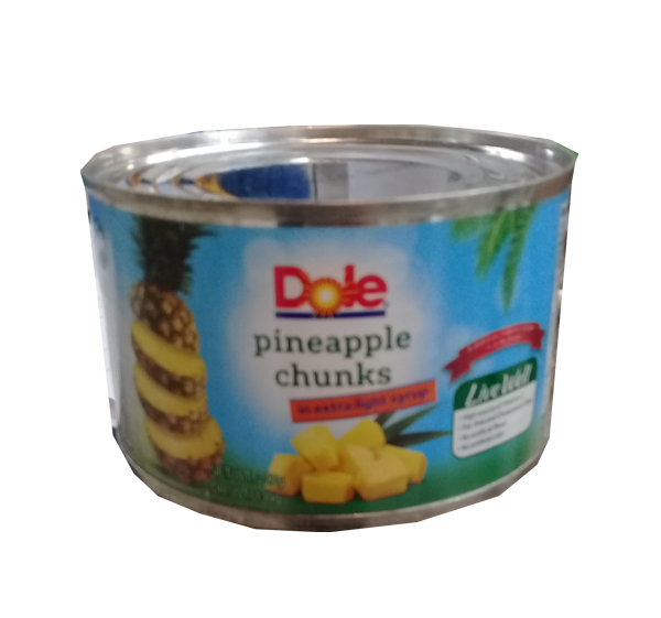 DOLE PINEAPPLE CHUNKS FLAT 227G