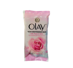 OLAY SKIN WHITENING BAR WITH ROSE & MILK 42G