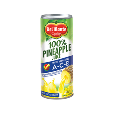 DEL MONTE 100% PURE PINEAPPLE JUICE W/VIT A-C-E 240ML