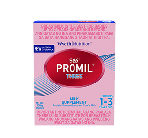 S-26 PROMIL THREE 400 G MILK SUPPLEMENT FOR KIDS 1-3 YEARS OLD