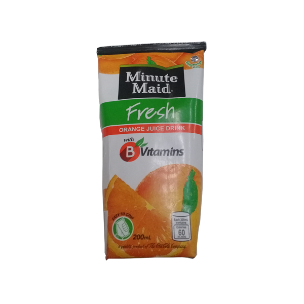 MINUTE MAID FRESH ORANGE JUICE DRINK 200ML