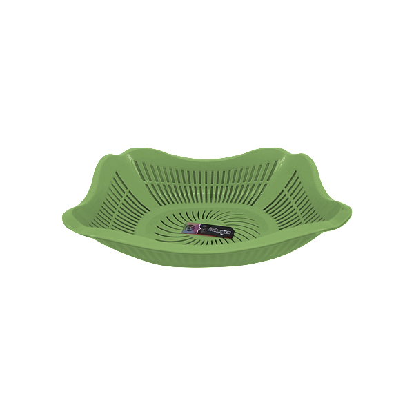 COLANDER WITH TRAY GREEN