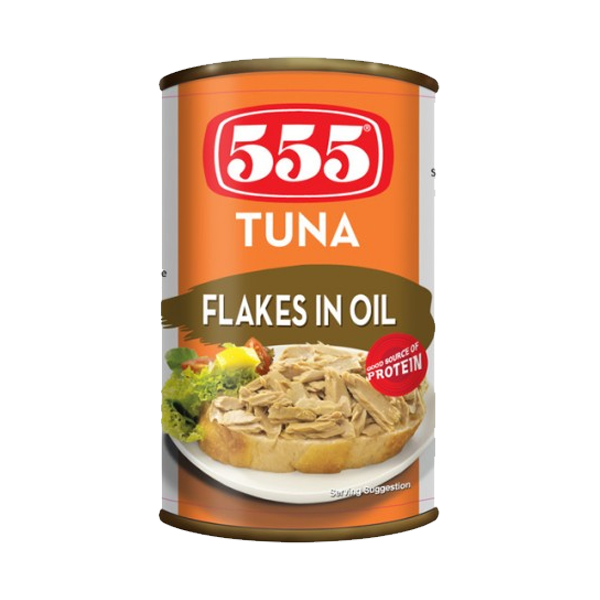 555 TUNA FLAKES IN OIL  EASY OPEN CAN 155G