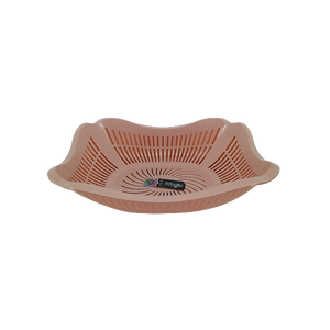 COLANDER WITH TRAY PEACH
