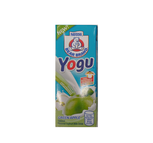 BEAR BRAND YOGU GREEN APPLE 180ML