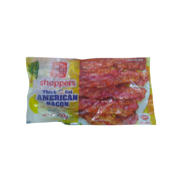 SHOPPERS AMERICAN BACON THICK CUT 200G