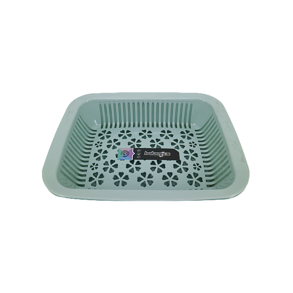COLANDER WITH TRAY BLUE