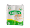 SANICARE BATHROOM TISSUE 2PLY 600SHEETS 200PULLS 4S